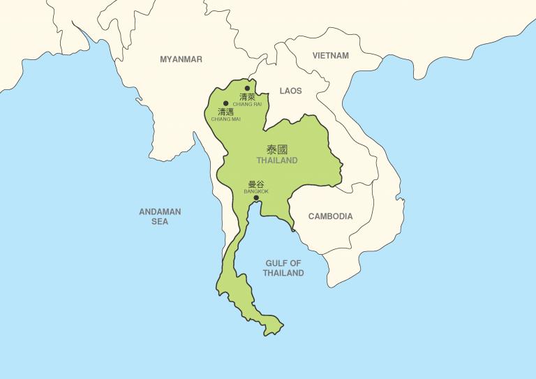 Christian Renewal Ministries CRMNJ Thailand Map